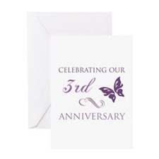 3rd Wedding Aniversary (Butterfly) Greeting Card