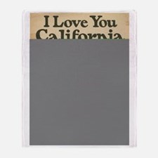 I Love You California Throw Blanket