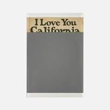 I Love You California Rectangle Magnet