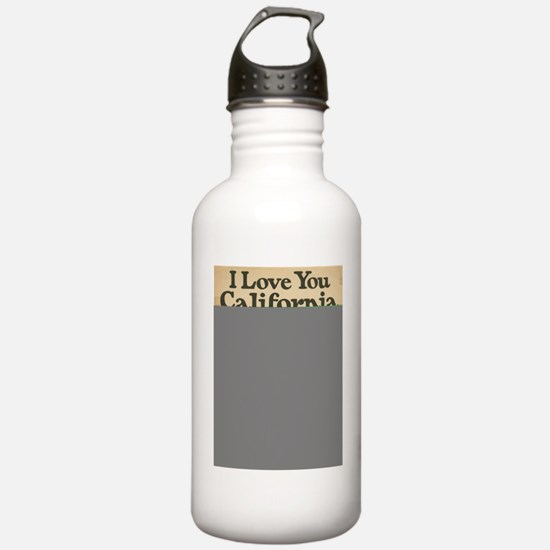 I Love You California Water Bottle