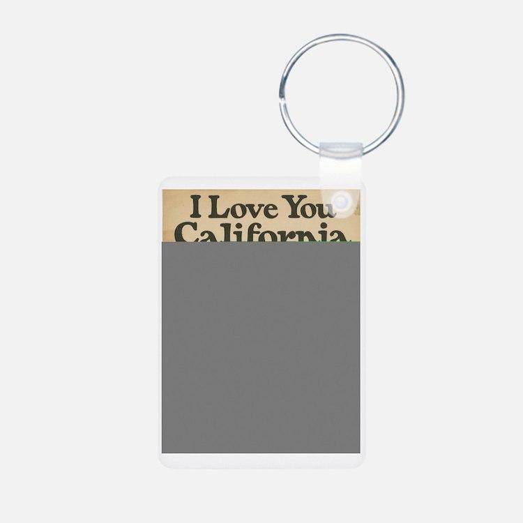 I Love You California Aluminum Photo Keychain