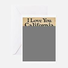 I Love You California Greeting Card