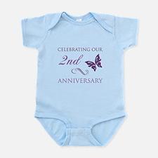 2nd Wedding Aniversary (Butterfly) Infant Bodysuit