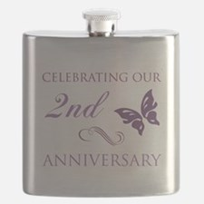 2nd Wedding Aniversary (Butterfly) Flask