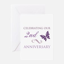 2nd Wedding Aniversary (Butterfly) Greeting Card