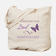 2nd Wedding Aniversary (Butterfly) Tote Bag