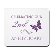 2nd Wedding Aniversary (Butterfly) Mousepad