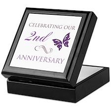 2nd Wedding Aniversary (Butterfly) Keepsake Box
