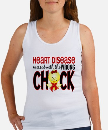 Heart Disease Messed With Wrong Chick Women's Tank
