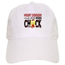 Heart Disease Messed With Wrong Chick Baseball Cap
