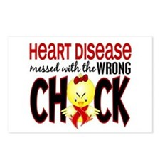 Heart Disease Messed With Wrong Chick Postcards (P