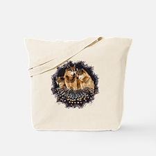 Golden Wolves Tote Bag