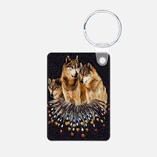 Golden Wolves Keychains