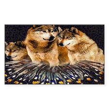 Golden Wolves Decal