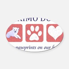 FIN-eskimo-dogs-pawprints Oval Car Magnet