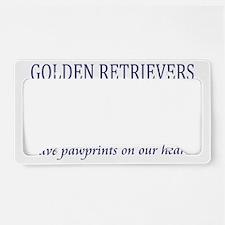 FIN-golden-retrievers-pawprin License Plate Holder