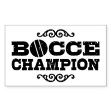 Bocce Champion Decal