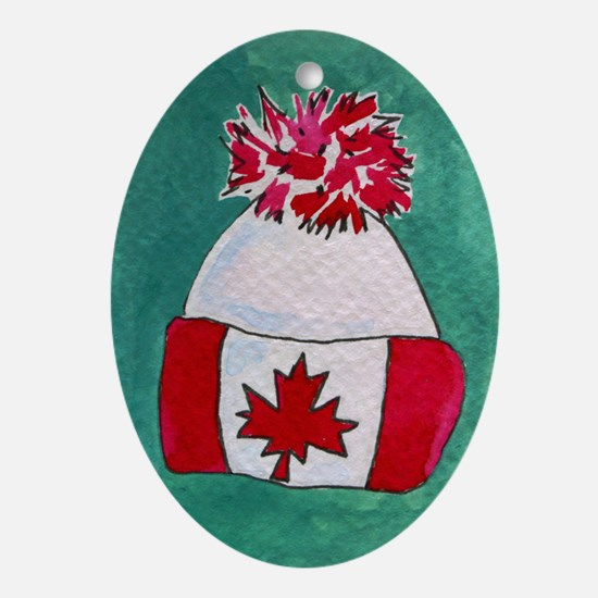ACEO oh canada Oval Ornament
