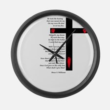 what shall I .3 Large Wall Clock