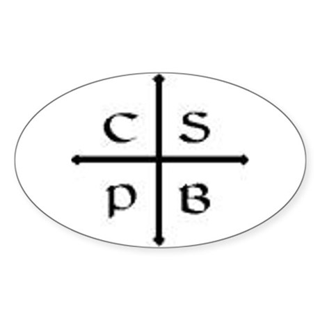 St. Benedict Cross Oval Sticker