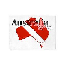 Australia Diver 5'x7'Area Rug