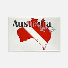 Australia Diver Rectangle Magnet
