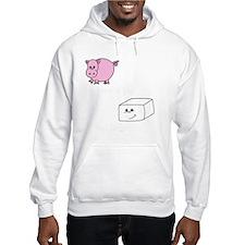3-save a pig eat tofu 2 Hoodie