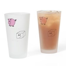 3-save a pig eat tofu 2 Drinking Glass