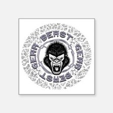 "Beast Gear Square Sticker 3"" x 3"""
