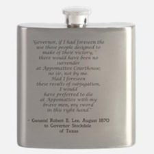 Lee quote for shirt design 1 Flask