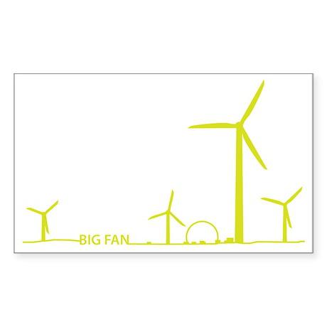 5-Big Fan Sticker (Rectangle)