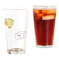 2-save a chick eat tofu 2 Drinking Glass