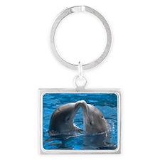 himani-dolphin Landscape Keychain