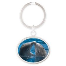 himani-dolphin Oval Keychain