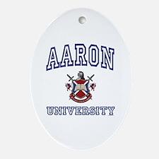 AARON University Oval Ornament