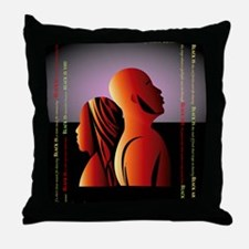 blackis12x12 Throw Pillow