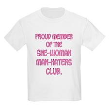 Man-Haters Kids T-Shirt