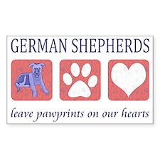 FIN-german-shepherds-pawprints Decal