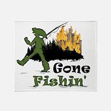Gone Fishin Throw Blanket