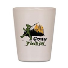 Gone Fishin Shot Glass