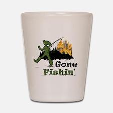 Gone Fishin Shot Glass