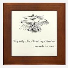 Da Vinci sophistication Framed Tile