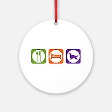 Eat Sleep Setter Ornament (Round)