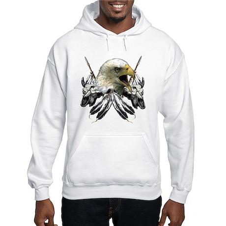 Buffalo Skull Eagle Women's Hooded Sweatshirt