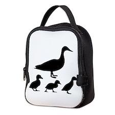duck ducklings mom love Neoprene Lunch Bag