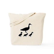 duck ducklings mom love Tote Bag