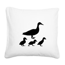 duck ducklings mom love Square Canvas Pillow
