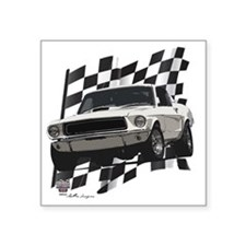 """68stang Square Sticker 3"""" x 3"""""""