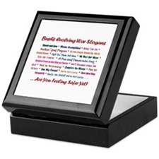 Bush War Slogans Keepsake Box