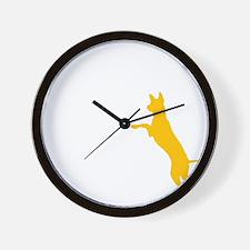 10x10 dogthisgood blk Wall Clock